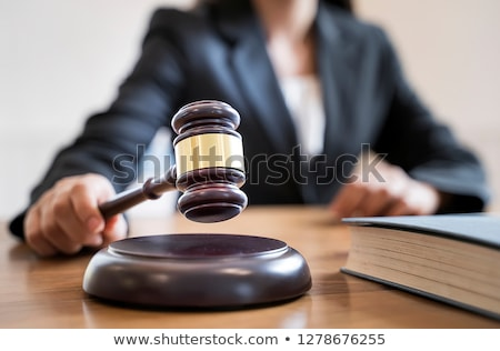 Woman judge with gavel in justice concept Stock photo © Elnur