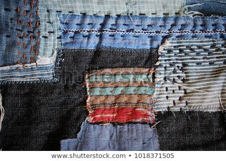 Piece of dark blue jeans fabric Stock photo © Taigi