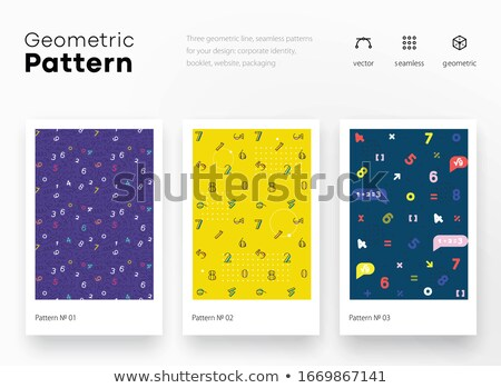 Colorful numeral seamless wallpaper pattern. Stock photo © almagami