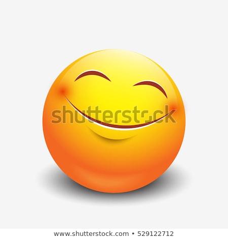 emoji   laughing orange smile isolated vector stock photo © rastudio