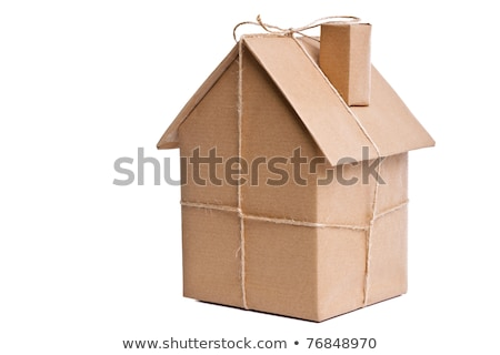 Concept for home moving. Isolated on white background.  Stock photo © curiosity