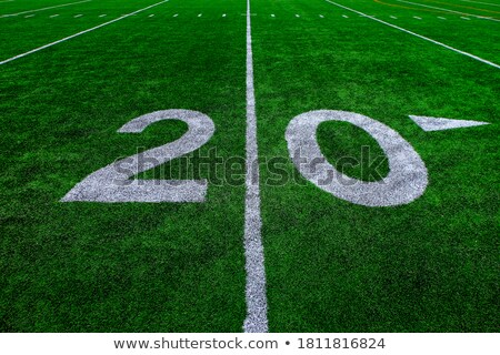 Football twenty yard marker Stock photo © njnightsky