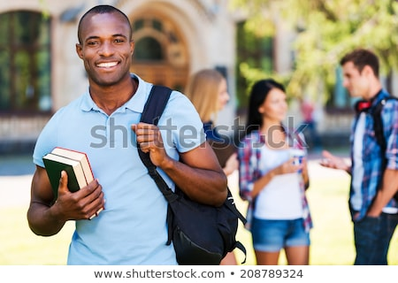 Happy African College Student Stock photo © AndreyPopov