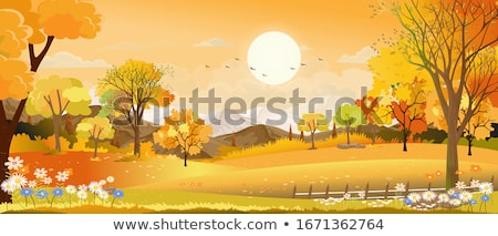 vector of autumn landscape stock photo © fresh_5265954
