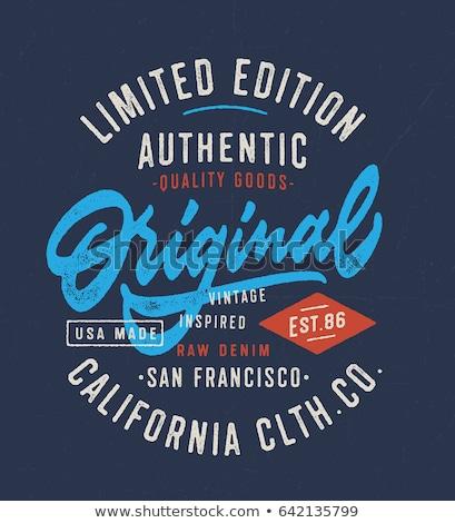 Tshirt graphics sport dragen typografie embleem Stockfoto © Andrei_