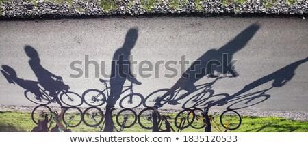 fietser · stedelijke · snel · woon-werkverkeer · weg · stad - stockfoto © stevanovicigor