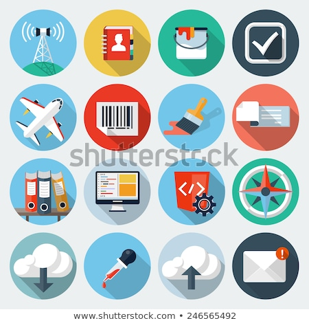 Stock photo: Dropper Flat Icon