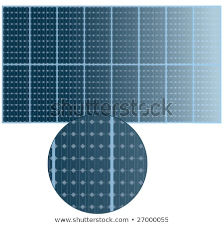 csökkenő · nézőpont · fotovoltaikus · napelemek · sorok · zöld - stock fotó © Qingwa