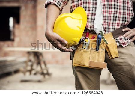 建設作業員 ツール ベルト 孤立した 白 ビジネス ストックフォト © Kurhan