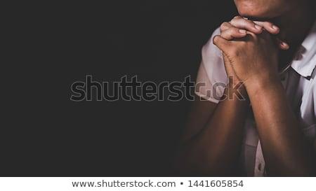 imádkozik · kezek · nyitva · Biblia · magas · kulcs - stock fotó © lincolnrogers