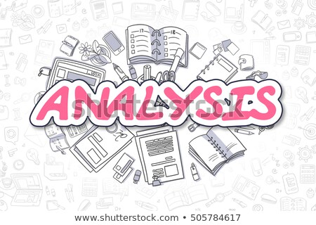 Financial Report - Doodle Magenta Text. Business Concept. Stock photo © tashatuvango