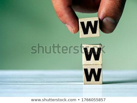 Www blocchi piramide tre bianco lettera Foto d'archivio © fresh_7135215