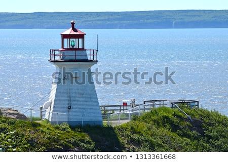 Deniz feneri yeni Bina manzara ışık deniz Stok fotoğraf © benkrut