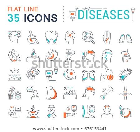 linha · ícone · bactérias · vetor · isolado · branco - foto stock © rastudio