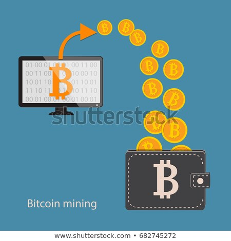 Computers and Bitcoin cryptocurrency Stock photo © stevanovicigor