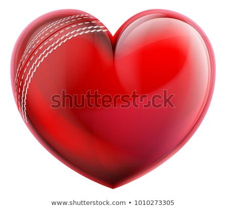 формы сердца крикет мяча сердце страсти Сток-фото © Krisdog