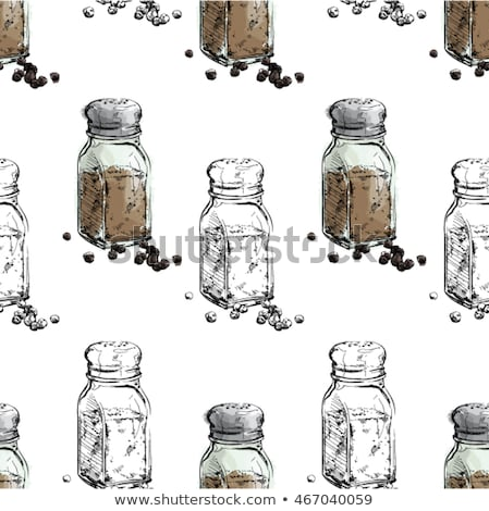 Salt and pepper shakers. On a white background. Vector illustrat Stock photo © popaukropa