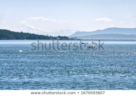 Sailboat Sea Haze Stock photo © vilevi