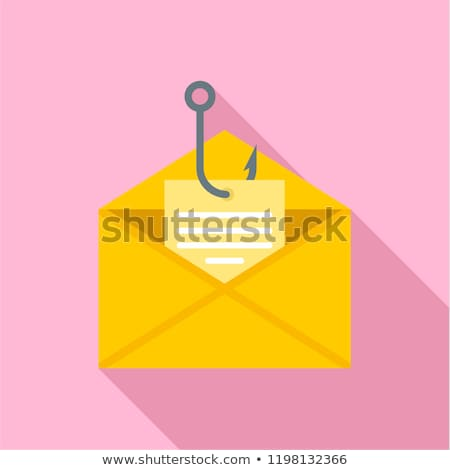 Fishing line, hook and envelope in a phishing scam Stock photo © adrian_n