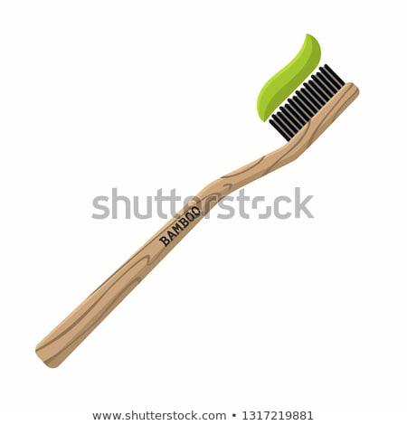 Toothbrush with toothpaste vector cartoon. Stock photo © RAStudio
