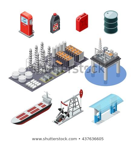 industrial storage of gasoline isometric element stock photo © studioworkstock