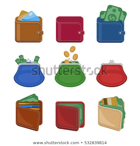 various leather purses and wallets set stock photo © studioworkstock
