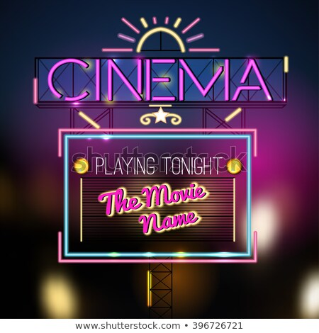 Premiere Tonight neon sign Stock photo © stevanovicigor