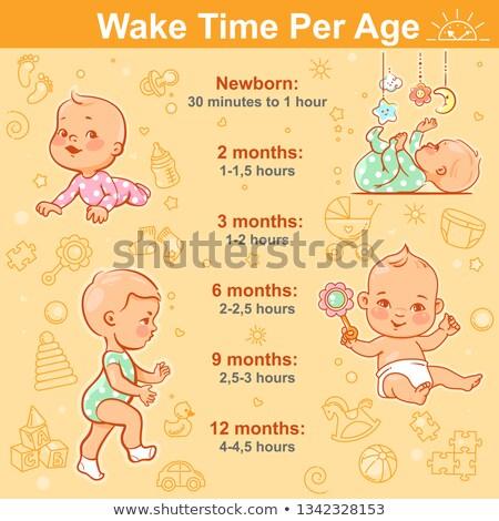 Foto stock: Horário · atividades · bebê · ninguém · palavra