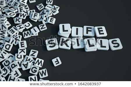 Stock photo: Game tile letters spelling career