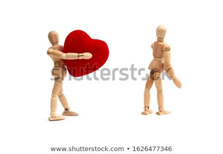 статуэтка Постоянный красный сердце Сток-фото © wavebreak_media