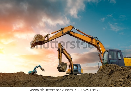 Digger At Sunrise Stock photo © rghenry