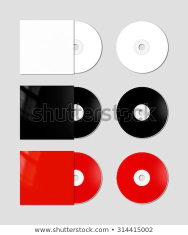 Red CD - DVD mockup template isolated on Grey Stock photo © daboost