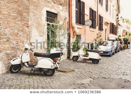 мотоцикле римской улице небольшой красный Италия Сток-фото © Givaga