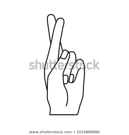 Fingers symbol deception. Hand showing fingers crossed. Vector i Stock photo © popaukropa