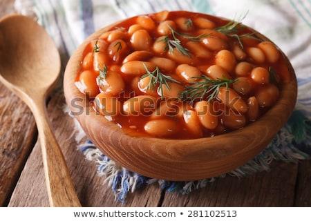 豆 · 孤立した · 白 · ボウル · ダイエット - ストックフォト © digifoodstock