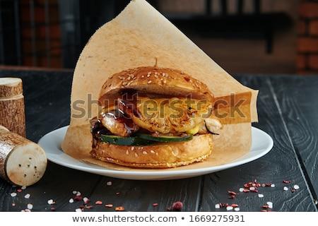 Stok fotoğraf: Sandviç · ananas · sıcak · taze · Hawaii · tost