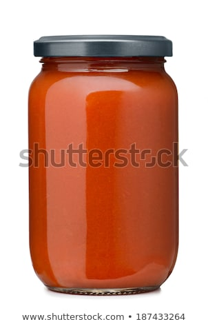 Glass jar with homemade tomato pasta sauce Stock photo © Melnyk