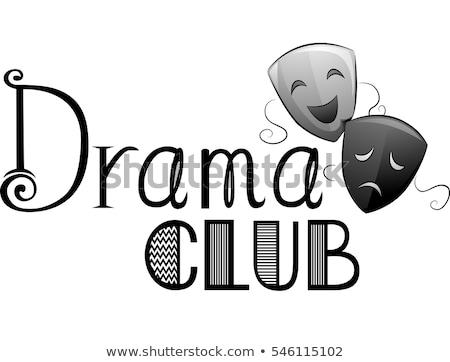 Dramat klub typografii ilustracja słowa napisany Zdjęcia stock © lenm