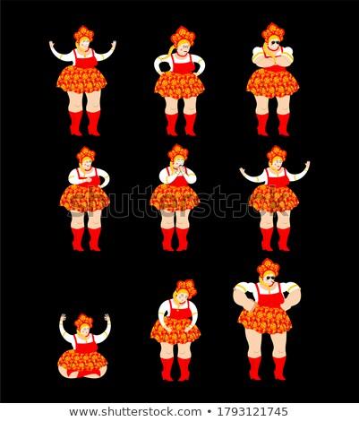 alszik · lány · rajzolt · emberek · karakter · izolált · illusztráció - stock fotó © popaukropa