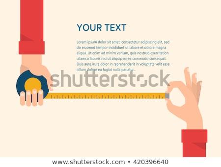 iş · adamı · şerit · metre · görüntü · iş · takım · elbise - stok fotoğraf © imabase