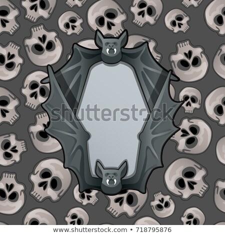Cartaz estilo halloween férias metal quadro Foto stock © Lady-Luck