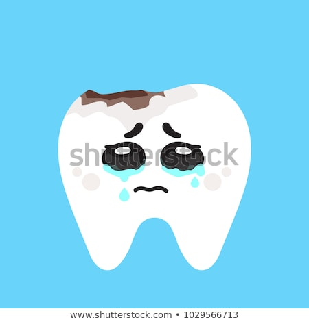 Tooth with hole. sick tooth. Caries and pulpitis Toothache Vecto Stock photo © MaryValery