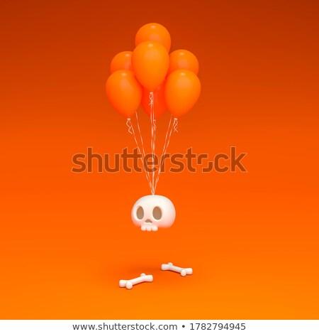 Scary balloon head with bones for Halloween 3D Stock photo © djmilic