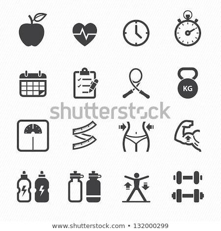 ícone dieta exercer ilustração mudo sino Foto stock © lenm