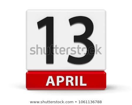 Cubes calendar 13th April Stock photo © Oakozhan