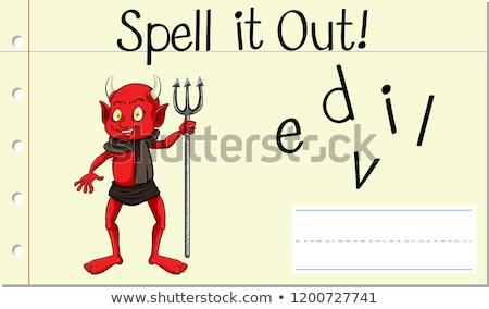 Spell english word  devil Stock photo © bluering