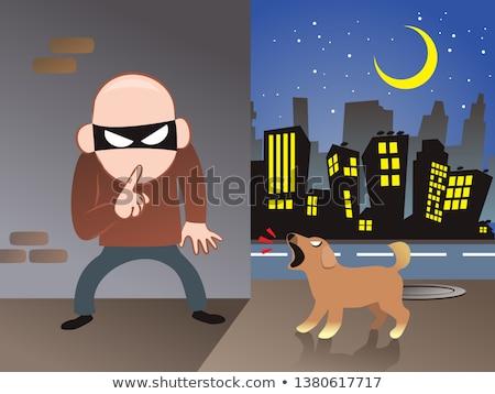 Cartoon Angry Thief Puppy Stock photo © cthoman