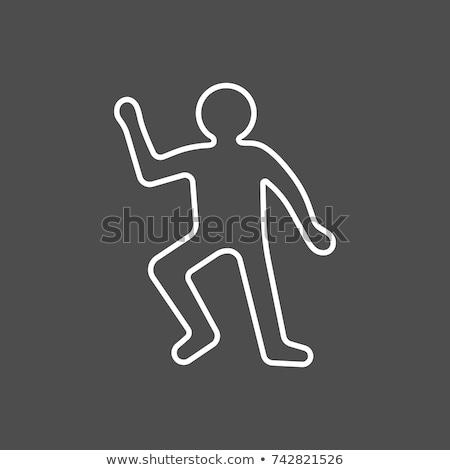 Crime Scene Contour Body with Chalk Stock photo © -TAlex-