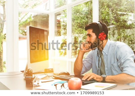 小さな · ビジネスマン · オフィス · ビジネス · 笑顔 · 男 - ストックフォト © Minervastock