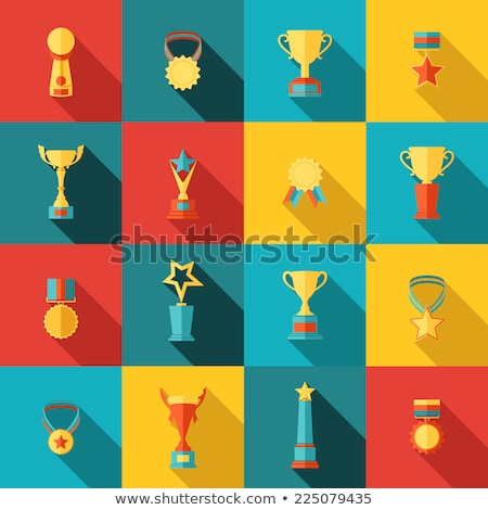 Winner Prize Figurine with Star and Medal Isolated Stock photo © robuart